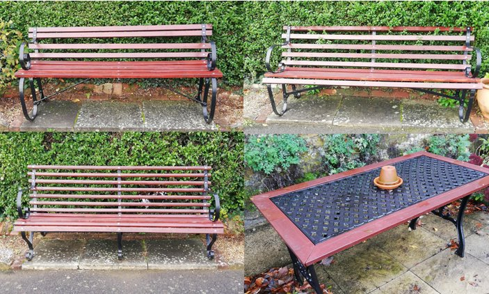 Table and Benches repaired by Dave Hewitt